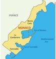 Principality of Monaco - map vector image vector image