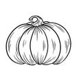 pumpkin outline contour autumn symbol vector image