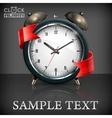 Retro alarm clock ribbon vector image