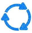Rotate CW Grainy Texture Icon vector image vector image