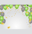 saint patricks day background with balloons and vector image