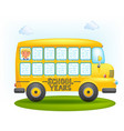 school bus frame vector image