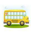 school bus frame vector image vector image