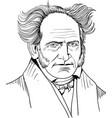 schopenhauer bw vector image vector image