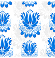 Seamless background with blue ornament Gzhel vector image vector image