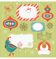 set christmas and new year elements vector image vector image