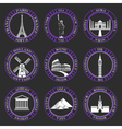 Set Icons of Travel and Sightseeing vector image