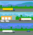 set international transportation banners vector image vector image