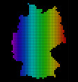 spectrum pixel dotted germany map vector image