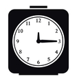 Square alarm clock icon simple style vector image vector image