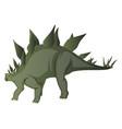 stegosaurus on white background vector image