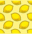 stylized lemon seamless pattern for design vector image