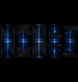 technology collection abstract modern cyber light vector image