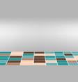 tiled floor in studio room vector image vector image