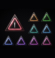 triangular signs set on transparent background vector image