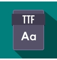 TTF file icon flat style vector image vector image