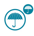 Umbrella simple single color icon isolated on vector image vector image