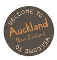 welcome to auckland new zealand vector image