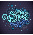 Winter hand lettering vector image vector image