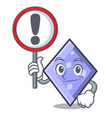 with sign rhombus character cartoon style vector image