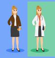 woman doctor in ordinary life flat design vector image vector image
