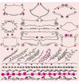 Floral Design Elements Frame Divider and Lines vector image