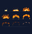 key frames of bomb explosion cartoon vector image