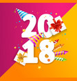 2018 party new year greeting card concept vector image vector image