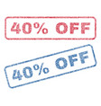 40 percent off textile stamps vector image vector image