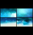 aqua blurred background set 4 wide blurred nature vector image vector image