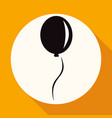 balloon icon on white circle with a long shadow vector image vector image