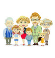 big and happy family portrait with children paren vector image