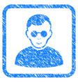 blind man framed stamp vector image