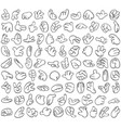 cartoon hands set 1 vector image vector image
