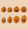 cartoony halloween pumpkin for kid vector image