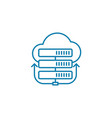 cloud server linear icon concept cloud server vector image