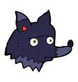 comic cartoon unhappy dog vector image vector image
