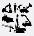 Construction silhouette vector image
