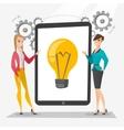 Creative businesswomen discussing business ideas vector image