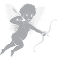 Cupid with bow and arrow vector image