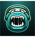 cute monster esport mascot logo vector image