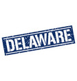 delaware blue square stamp vector image vector image
