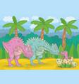 dinosaur family vector image