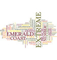 emerald coast home to extreme adventures text vector image vector image