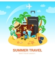 Exotic island and travel accessories vector image vector image