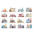 factory industry manufactory power electricity vector image vector image