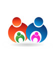family people caring for their children icon vector image vector image