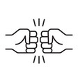 fist bump friendship sign vector image