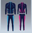 fitness sport wear vector image vector image