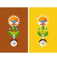 Flat design nature concept - plant growth vector image